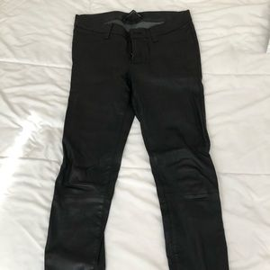 J Brand Leather Skinny Pants Size 27